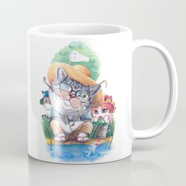 A cat family on the summer holiday Coffee Mug