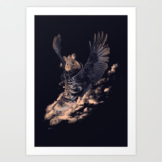 Flying Mouse Art Print