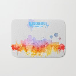 Albuquerque City Skyline Bath Mat