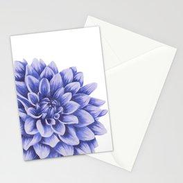 Big flower, purple chrysanthemum Stationery Cards