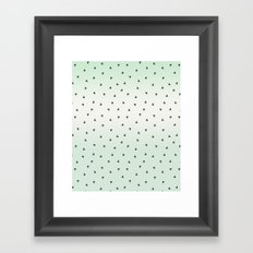 Mint Black Ombre Triangles Wateroclor Framed Art Print