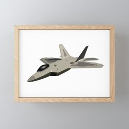American Jet Fighter Framed Mini Art Print