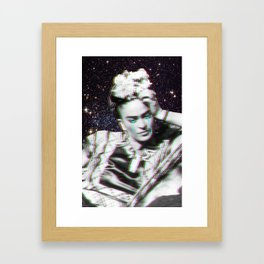 Frida in Space Framed Art Print