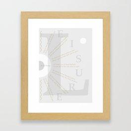 LEISURE I Framed Art Print