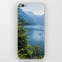 germany iPhone & iPod Skins featuring Germany, Malerblick, Koenigssee Lake III by UtArt