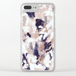 Skylar Abstract Clear iPhone Case