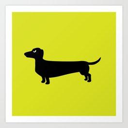 Angry Animals: Dachshund Art Print
