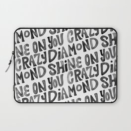 Shine On You Crazy Diamond – Black Ink Laptop Sleeve
