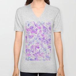 Watercolor Floral VI Unisex V-Neck