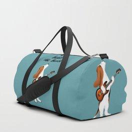 Basset the Bassist (Blue-Gray) Duffle Bag