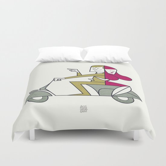 Lovers hug Duvet Cover