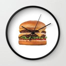 Juicy Double Cheeseburger Wall Clock