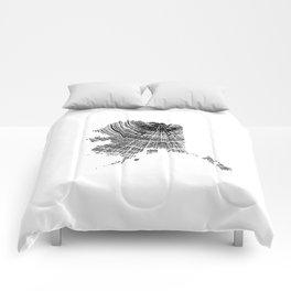 Alaska State, Tree rings, Tree ring print, Tree ring image, Wood Grain Comforters