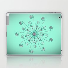 Minimalist flower mandala Laptop & iPad Skin