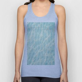 Transparent Clear Water Pattern With Sand Underneath Light Shimmering On Water Unisex Tank Top