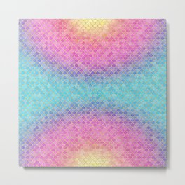 Mermaid Scales Sunrise Metal Print