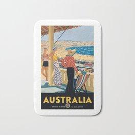 1929 Australia Bondi Beach Travel Poster Bath Mat
