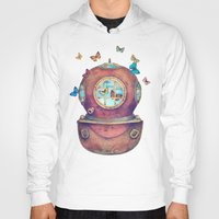 surrealism Hoodies featuring Inner Space by Terry Fan