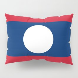 Laos Flag Pillow Sham