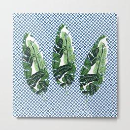 checker leaf Metal Print