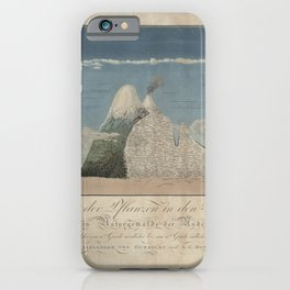 Alexander von Humboldt - Section View of Plants on the Chimborazo and Cotopaxi Volcanoes (1807) iPhone Case