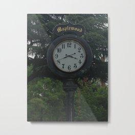 Maplewood - Clock Metal Print