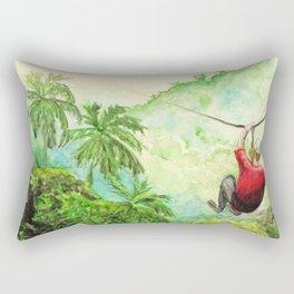 Zip-Line Watercolor Rectangular Pillow