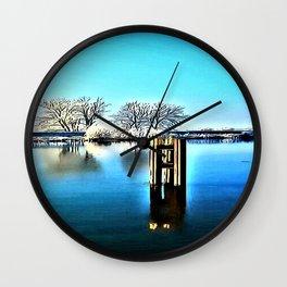 Winter Lake Wall Clock