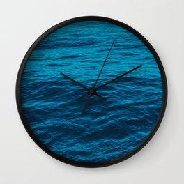 water surface, Blue ocean waves - deep blue sea Wall Clock