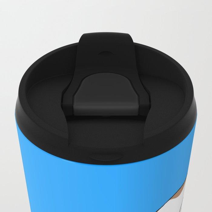 Bulldog Puppy Metal Travel Mug