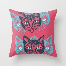 Mollycat Close-up Throw Pillow