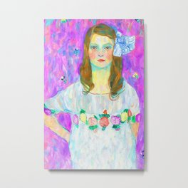After Klimt - Portrait of Mada Metal Print