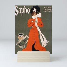Sapho vintage poster art Mini Art Print