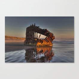 Shipwreck at Sunset Canvas Print