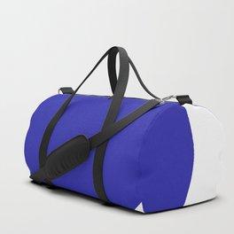 Heart (Navy Blue & White) Duffle Bag
