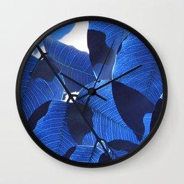 Close Up Leaves II Wall Clock