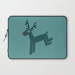 Reindeer-Teal Laptop Sleeve