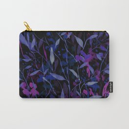 Wandering Wildflowers Midnight Carry-All Pouch