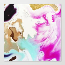 Happiness Ever Abstract Watercolor Painting Canvas Print