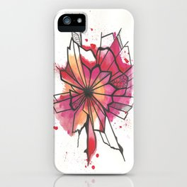 Pink and yellow Flower Explosion  iPhone Case