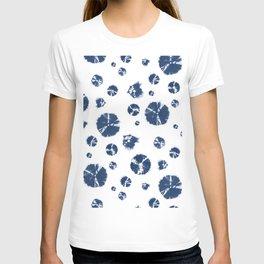 Shibori Polka Splotch Indigo Blue T-shirt
