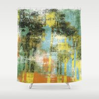 palms Shower Curtains featuring Palms by Alan Dubrovo