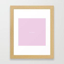 BYE, FELICIA Framed Art Print