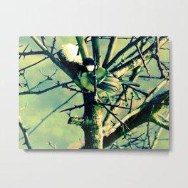 Bird On Twig Metal Print
