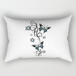 Tattoo tendril with stars and butterflies Rectangular Pillow