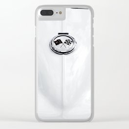 Black and White Sting Ray Car Clear iPhone Case