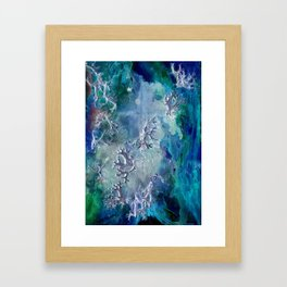 Lunar neuronal essence Framed Art Print