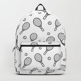 Tennis sport outline pattern Backpack