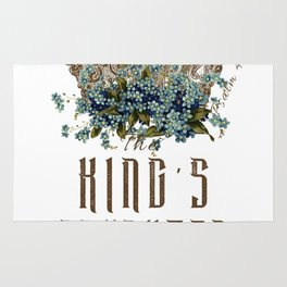 The King's Daughter Psalm 45 Floral Crown Rug