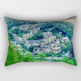Hebden Bridge From Afar (colour) Rectangular Pillow